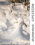 single small snowman  snow... | Shutterstock . vector #1191152206