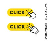 click button set with hand... | Shutterstock .eps vector #1191157696