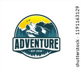 adventure mountain logo design | Shutterstock .eps vector #1191163129