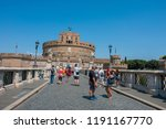 rome   august 4  tourists at... | Shutterstock . vector #1191167770