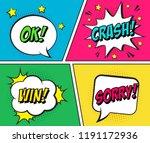 retro comic speech bubbles set... | Shutterstock .eps vector #1191172936