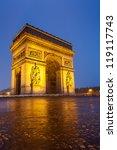 arc de triomphe  paris   Shutterstock . vector #119117743