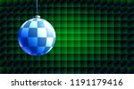 colorful glass ball on creative ... | Shutterstock .eps vector #1191179416