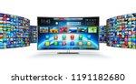 web streaming media tv video... | Shutterstock . vector #1191182680