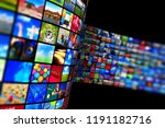 web streaming media tv video... | Shutterstock . vector #1191182716