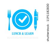 lunch and learn vector icon on... | Shutterstock .eps vector #1191182830