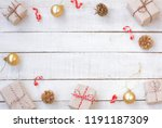 christmas greeting card wrapped ...   Shutterstock . vector #1191187309