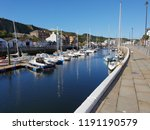 beautiful douglas quayside with ... | Shutterstock . vector #1191190579