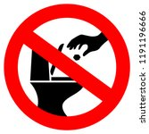 do not throw trash in toilet... | Shutterstock .eps vector #1191196666