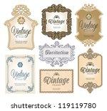vintage decorative ornate labels | Shutterstock .eps vector #119119780