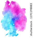 colorful abstract watercolor... | Shutterstock .eps vector #1191198883