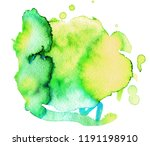 colorful abstract watercolor... | Shutterstock .eps vector #1191198910