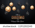 merry christmas and new year... | Shutterstock .eps vector #1191202243