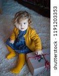 beautiful baby on christmas...   Shutterstock . vector #1191203353