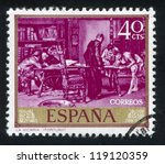 spain   circa 1968  stamp... | Shutterstock . vector #119120359