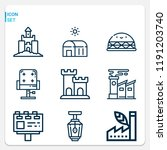 simple set of  9 outline icons... | Shutterstock . vector #1191203740