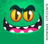 angry cartoon monster face.... | Shutterstock .eps vector #1191213676