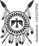 native american indian shield... | Shutterstock .eps vector #1191217696