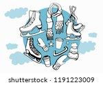 isolated vector set winter... | Shutterstock .eps vector #1191223009