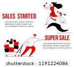 modern cartoon flat characters... | Shutterstock .eps vector #1191224086