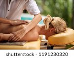 beautiful woman at spa and... | Shutterstock . vector #1191230320