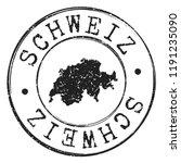 switzerland silhouette postal... | Shutterstock .eps vector #1191235090