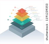 stacked pyramid level stages... | Shutterstock .eps vector #1191239353