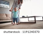 baby boy learning walking with... | Shutterstock . vector #1191240370
