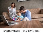young family spending happy... | Shutterstock . vector #1191240403