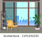 interior design of a large room ... | Shutterstock .eps vector #1191242233
