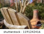 wooden adirondack chair and...   Shutterstock . vector #1191242416