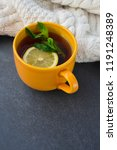 lemon menthol beverage healthy... | Shutterstock . vector #1191248389
