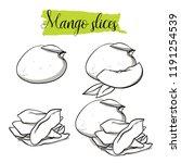 hand drawn sketch style mango... | Shutterstock .eps vector #1191254539