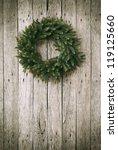 Green Christmas Wreath On...