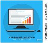 business rapport monitor | Shutterstock .eps vector #1191256606
