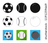 vector design of sport and ball ... | Shutterstock .eps vector #1191259669