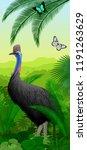 vector jungle rainforest... | Shutterstock .eps vector #1191263629