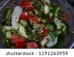 fresh vegetable salad with...