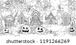 seamless background from scary... | Shutterstock .eps vector #1191266269