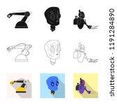 vector design of robot and... | Shutterstock .eps vector #1191284890