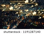 arrows with aerial view of... | Shutterstock . vector #1191287140