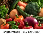 a collection of fresh and... | Shutterstock . vector #1191293200