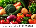 a collection of fresh and... | Shutterstock . vector #1191293209
