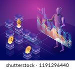 cryptocurrency trading bot....   Shutterstock .eps vector #1191296440