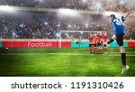 kid football player taking a... | Shutterstock . vector #1191310426