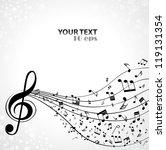 musical background | Shutterstock .eps vector #119131354
