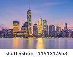 new york  lower manhattan... | Shutterstock . vector #1191317653