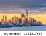 new york  lower manhattan... | Shutterstock . vector #1191317656
