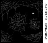 set of cobweb isolated on dark... | Shutterstock .eps vector #1191319549