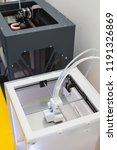 white electronic 3d printer.... | Shutterstock . vector #1191326869